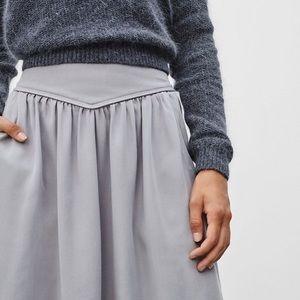 Wilfred Gabrielle midi skirt in grey